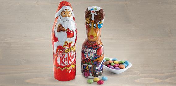 Kit Kat Weihnachtsmann/ Smarties Rassel Rudi, Oktober 2013