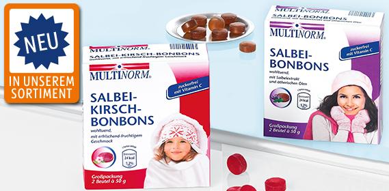 Salbei-Kirsch- oder Salbei-Bonbons, 2x 50 g, Oktober 2012