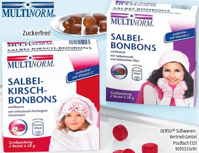 Salbei-Kirsch- oder Salbei-Bonbons, 2x 50 g, November 2013