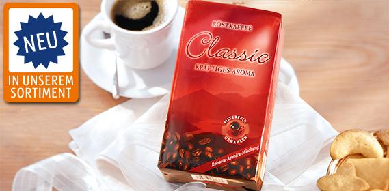 Classic Röstkaffee - kräftiges Aroma, November 2012
