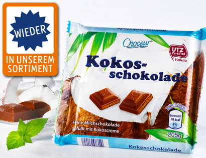 Kokosschokolade, August 2013