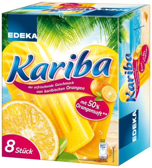 Kariba Orange Eis, Januar 2018