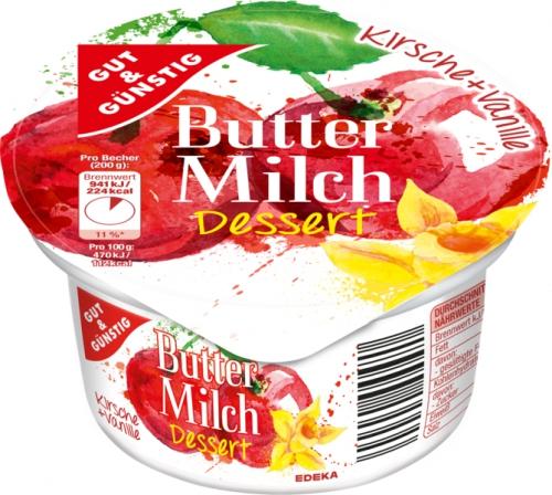Buttermilch Dessert Kirsche-Vanille, Januar 2018