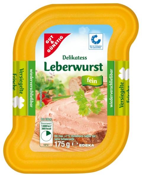 Guts-Leberwurst, fein, Dezember 2017