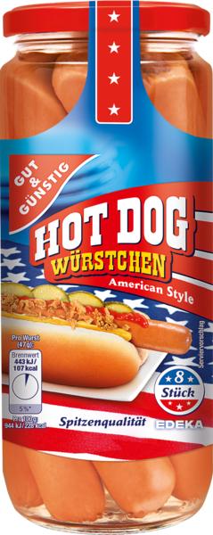 Hot Dog Würstchen, Dezember 2017