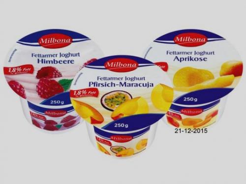 Fettarmer Joghurt, 1,8 % Fett, Januar 2016