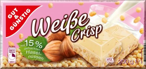 Schokolade Weisse Crisp, Januar 2018
