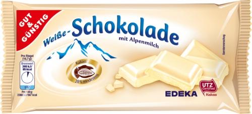 Weiße Schokolade, Januar 2018