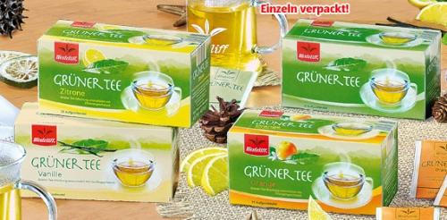 Grüner Tee, 25x 1,75 g, November 2008