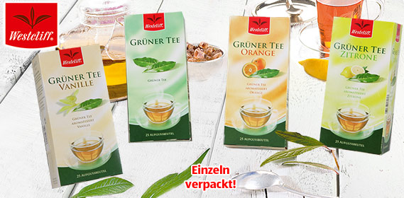 Grüner Tee, 25x 1,75 g, M�rz 2011