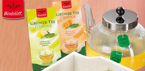 Grüner Tee, 25x 1,75 g, November 2011