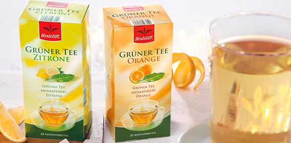 Grüner Tee, 25x 1,75 g, Oktober 2012