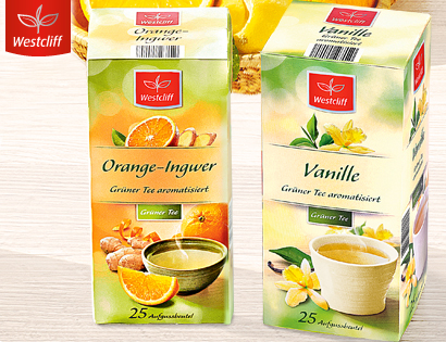 Grüner Tee, 25x 1,75 g, Januar 2014