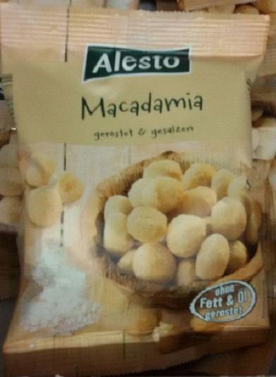 Macadamia geröstet und gesalzen, Dezember 2017