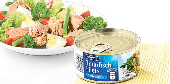 Thunfischfilets in eigenem Saft und Aufguss, August 2010