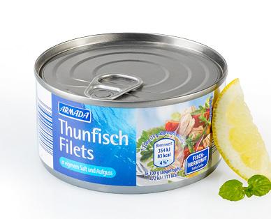 Thunfischfilets in eigenem Saft und Aufguss, Dezember 2014