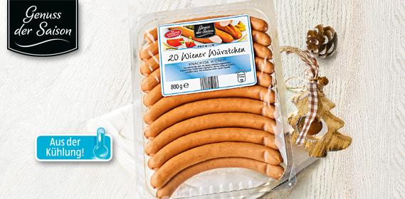 Wiener Würstchen, 25 Stück, Dezember 2012