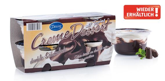 Creme Dessert mit Topping, dunkle Schokolade, 4 x 115 g, Dezember 2013
