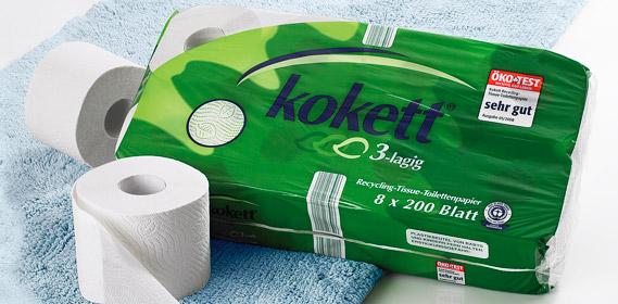Toilettenpapier, Recycling, Oktober 2010