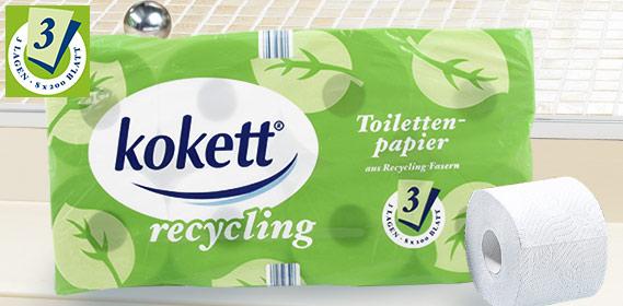Toilettenpapier, Recycling, Juni 2011