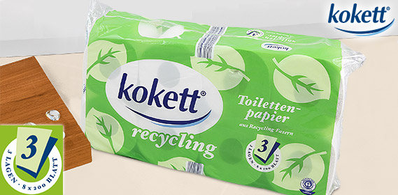 Toilettenpapier, Recycling, Juni 2012