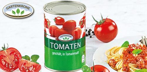 Tomaten, geschält, in Tomatensaft, Oktober 2011