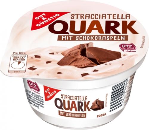 Stracciatella Quark mit Schokoraspeln, Januar 2018