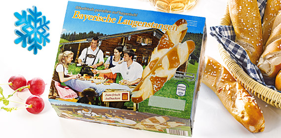 Bayerische Laugenstangen, 8 Stück, Januar 2013