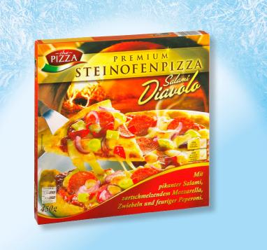 Steinofenpizza Salami Diavolo, Januar 2013