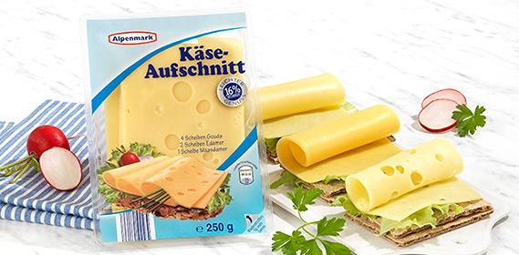 Käseaufschnitt, leicht, Januar 2013