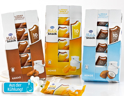 Milch-Snack, 10er-Packung, M�rz 2014
