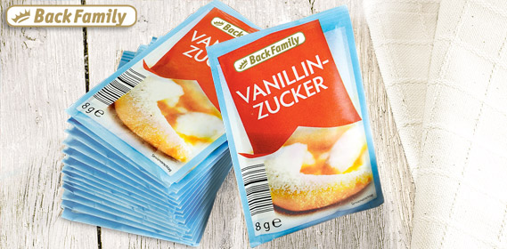 Vanillinzucker, 15x 8 g, Februar 2013