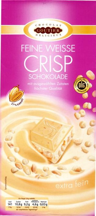 Feine weiße Crisp Schokolade, Januar 2013