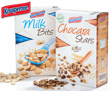 Nougat- / Milk Bits oder Chocara Stars, Januar 2015