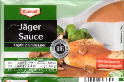 Jägersauce, 2 x 27,5 g, Februar 2013