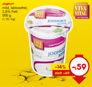 Joghurt mild, laktosefrei, 3,8% Fett, November 2017