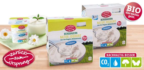 Bergbauern Naturjoghurt, 4 x 125 g, Februar 2013