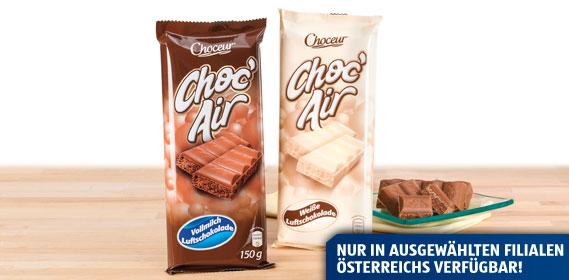 Choc´ Air Vollmilch Luftschokolade, Februar 2013