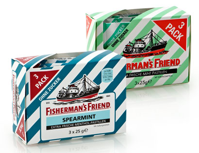 Fisherman's Friends, 3 x 25 g, Februar 2014