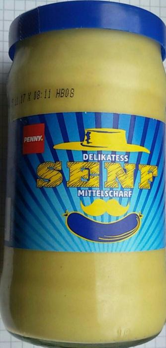 Delikatess-Senf, mittelscharf, Juni 2017