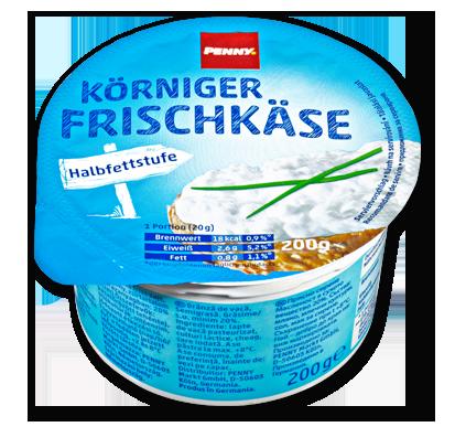 Körniger Frischkäse, Halbfettstufe, M�rz 2016