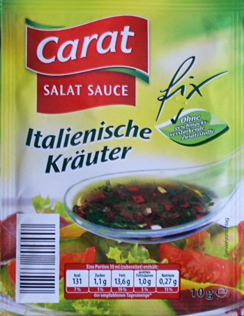 Salat Sauce Italienische Kräuter, Juli 2014
