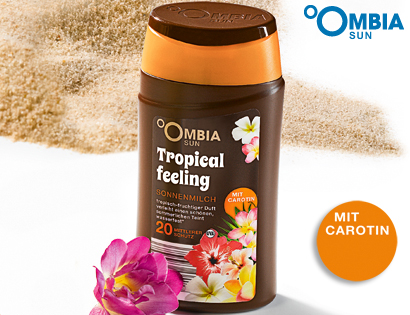 Sonnenschutz Tropical Feeling, mit Carotin, LSF 20, Mai 2013