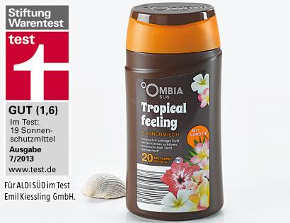 Sonnenschutz Tropical Feeling, mit Carotin, LSF 20, Juli 2013
