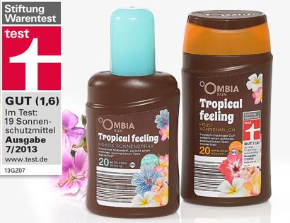 Sonnenschutz Tropical Feeling, mit Carotin, LSF 20, April 2014