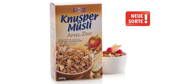 Knusper-Müsli Apfel Zimt , Dezember 2013