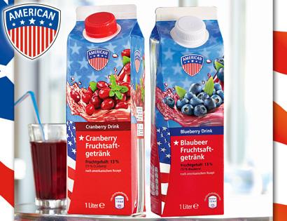 Blueberry- oder Cranberry-Fruchtsaftgetränk, Juni 2013