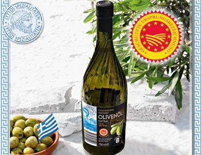 Griechisches natives Olivenöl extra P.D.O., Juli 2013