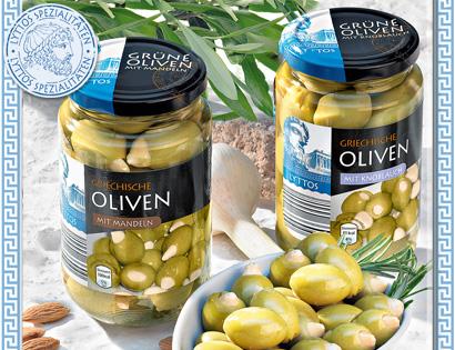 Griechische grüne Oliven, Juli 2013