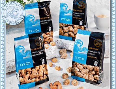 Griechische karamellisierte Nüsse, Juli 2013